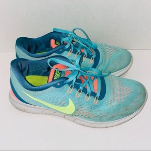 Nike Free Running Shoes Hyper Turquoise Blue Green